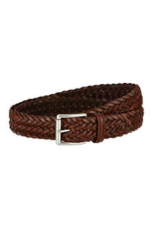 ANDERSONS Woven leather belt