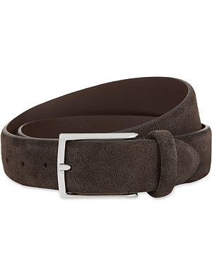ANDERSONS Classic suede buckle belt