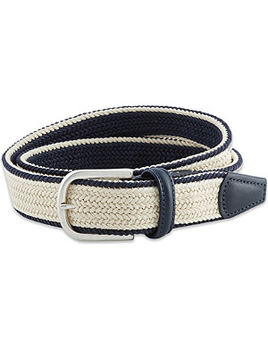 ANDERSONS Woven stripe belt