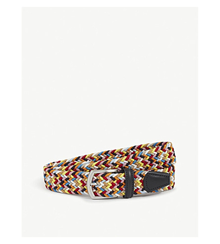 ANDERSONS Multi-woven elasticated belt (Multi+bright