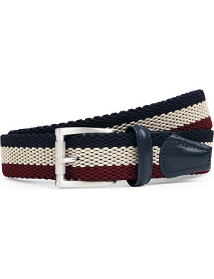 ANDERSONS Striped woven belt