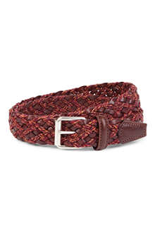 ANDERSONS Leather and rope belt
