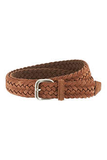 ANDERSONS Suede woven belt