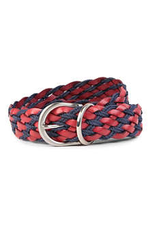ANDERSONS Contrast leather and rope belt