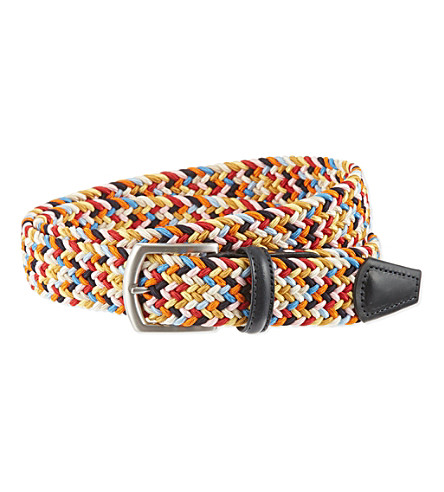 ANDERSONS Woven stretch belt (Multi