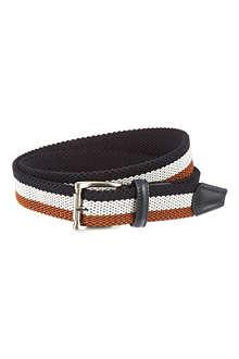 ANDERSONS Woven multi-stripe belt