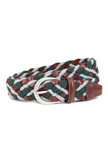 ANDERSONS Wide rope and leather woven belt