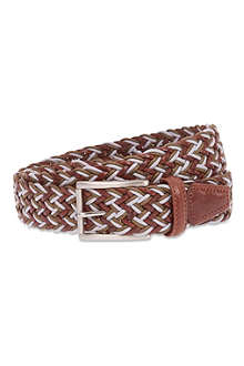 ANDERSONS Leather woven belt