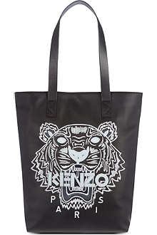 KENZO Tiger motif leather tote