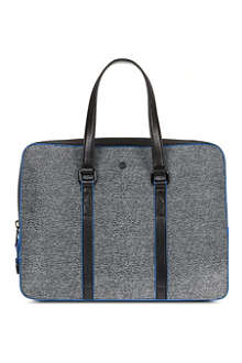 KENZO Riso leather briefcase