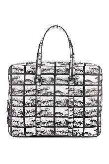 KENZO Square waves briefcase
