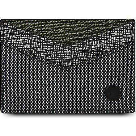KENZO Textured card holder (Grey