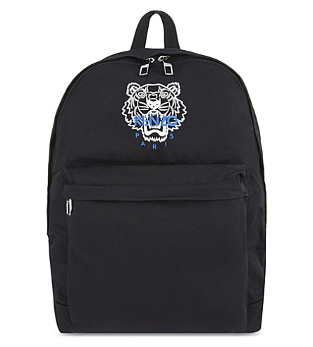 KENZO Tiger nylon backpack (Black