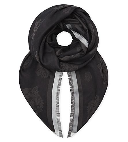KENZO Tiger head scarf (Black