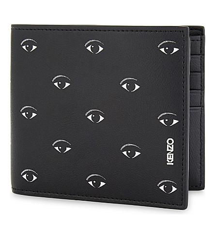 KENZO Billfold eyes motif wallet (Black