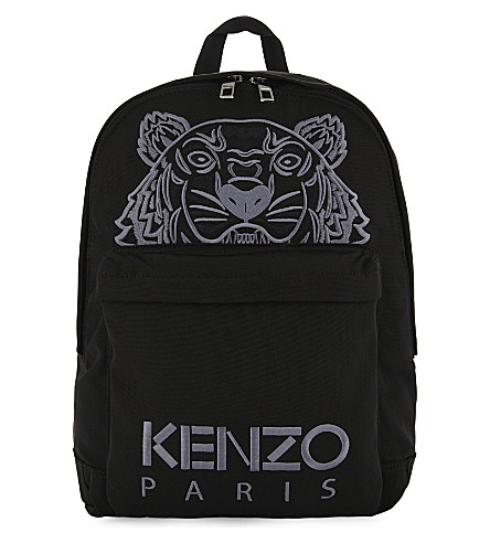 KENZO Embroidered tiger backpack (Black