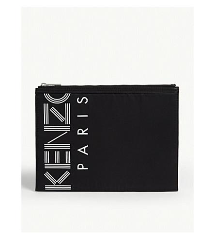 KENZO Sport logo nylon pouch (Black