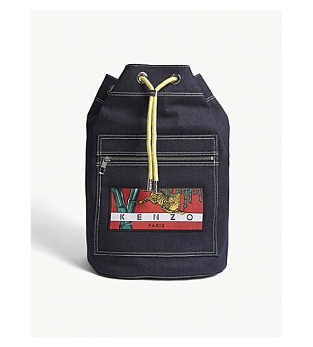 KENZO Momento denim backpack (Navy+blue