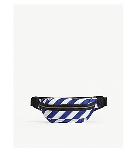 KENZO Stripe nylon bum bag (Deep+sea+blue