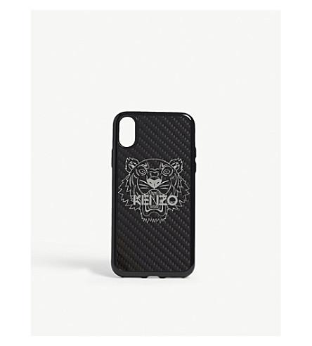 KENZO 虎全息炭纤维 iPhone X 壳 (黑色