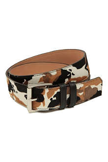 JIMMY CHOO Camo-print pony belt