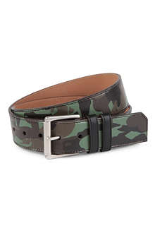 JIMMY CHOO Camo-print leather belt