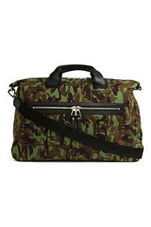 JIMMY CHOO Camden camo-canvas bag