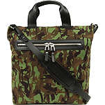 JIMMY CHOO Charles camo-canvas tote bag