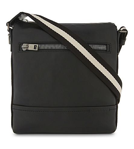 BALLY Trezzini Novo leather messenger bag (Black