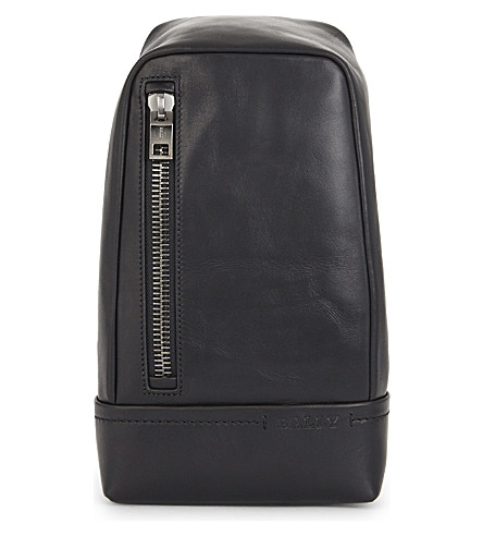 BALLY Tanis Novo leather sling bag (Black