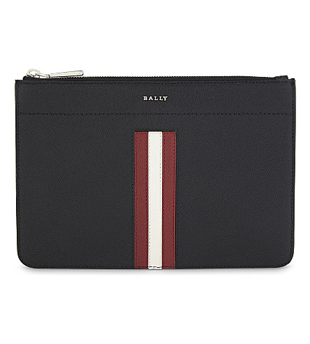 BALLY Sunni grained leather pouch (Black