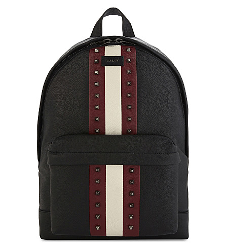 BALLY Hingis studded leather backpack (Black