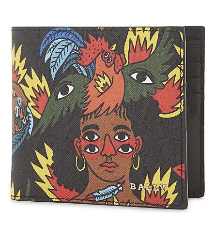BALLY Printed billfold wallet (Black