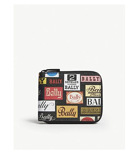 BALLY Benner logo leather wallet (Multi