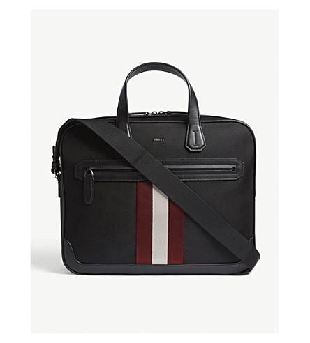 BALLY Chandos briefcase (Black+red
