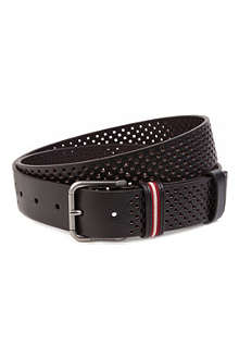 BALLY Bally perforated leather belt