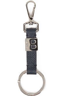 BALLY Leather contrast key ring