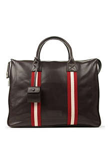 BALLY Leather stripe business bag
