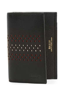 BALLY Vianson perforated-stripe leather wallet