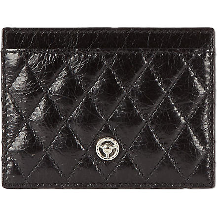 GTO Quilted leather card case (Black