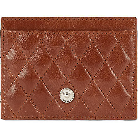 GTO Quilted leather card case (Tan
