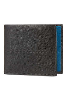 TODS Contrast grain leather billfold wallet