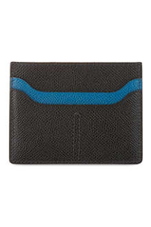 TODS Contrast grained leather card case