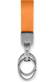TODS Saffiano leather valet key ring