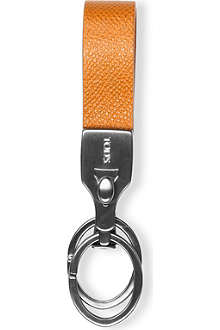 TODS Pebbled-leather valet key ring