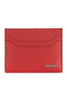 TODS Grained leather card holder