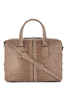 TODS Crocodile leather briefcase