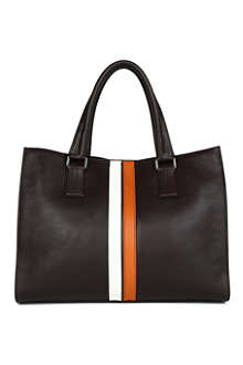 TODS Bi-Colour stripe tote bag