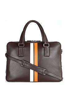 TODS Bi-coloured leather laptop bag
