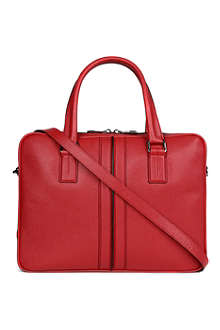 TODS Grained-leather laptop bag